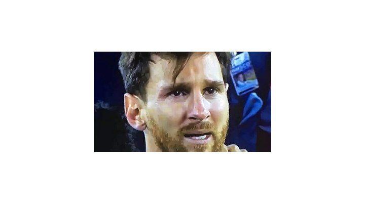 Messi llora tras la derrota con Chile en Estados Unidos