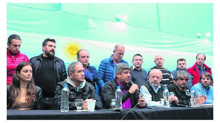 Convocatoria. Gremialistas anuncian un acto contra el FMI.
