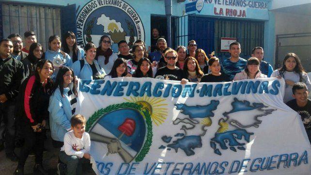 Cuestión Malvinas. Hijos de combatientes de Malvinas de varias provincias se encontraron en La Rioja.