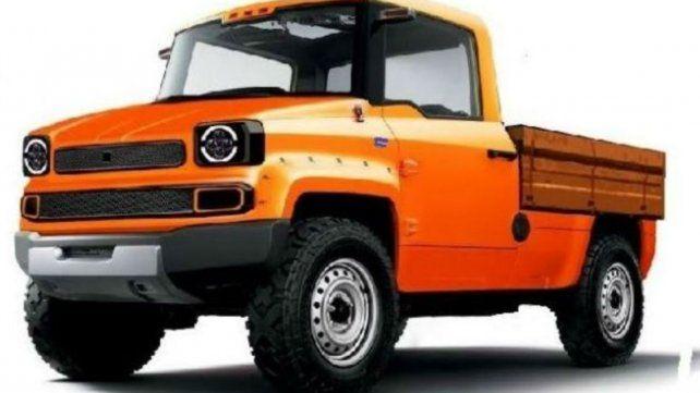 Otra fisonomía. La nueva camioneta se fabricará en el cordón industrial.