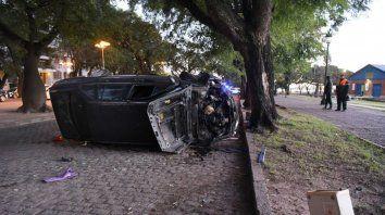 El accidente ocurrió esta mañana en Belgrano y Tucumán.
