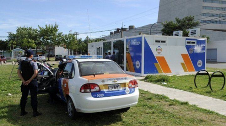 Chau módulos fijos. El Ministerio de Seguridad empezó a desmontar las estructuras donde estaban los policías comunitarios.