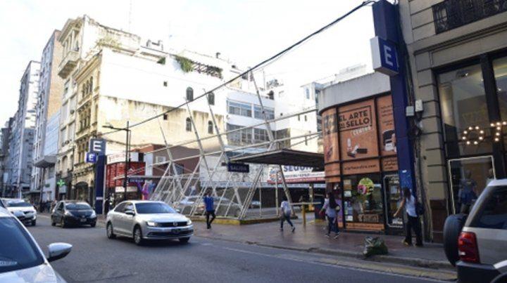 El lugar. El constructor busca cumplir una iniciativa trunca del municipio en la cuadra de Corrientes entre Córdoba y Rioja.