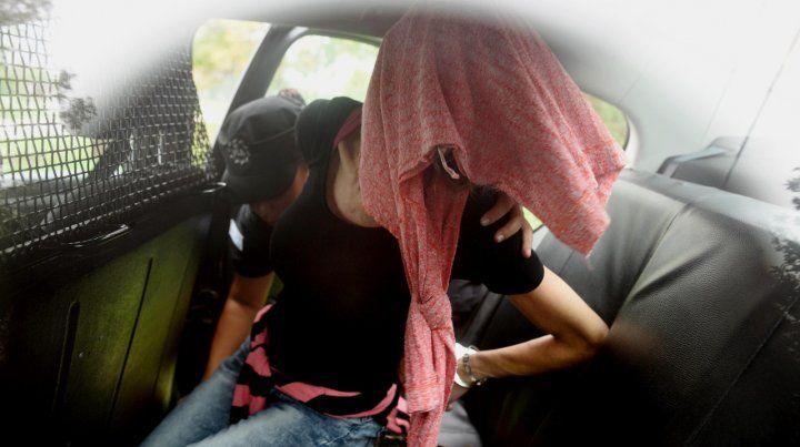 Daniela Ungaro al momento de su detención