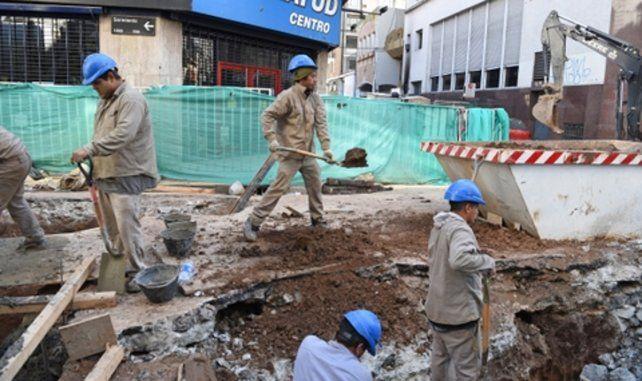 actividad. La obra local evita un mayor parate de la construcción.