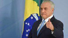 El mandatario de Brasil, Michel Temer.