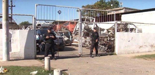 El desarmadero de Ayacucho al 4400 fue allanado hoy y se secuestraron más de 500 mil autopartes.