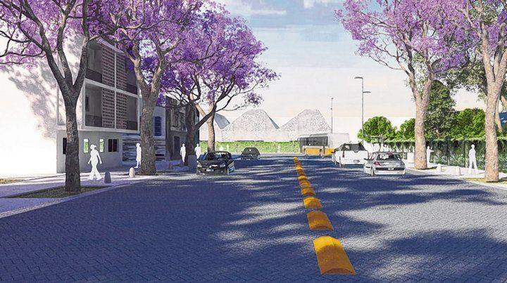 lo que viene. Imagen digital de la futura calle Beruti