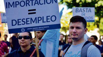 Efecto. Trabajadores metalúrgicos, víctimas de las importaciones.