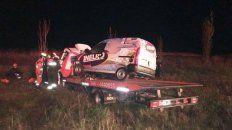 El vehículo de auxilio mecánico en el que iban las víctimas.