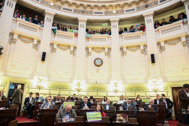 La Cámara de Diputados provincial dio media sanción a la ley de paridad de género