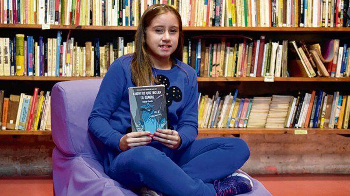 Agustina elige las historias de terror como las de lectura preferida.