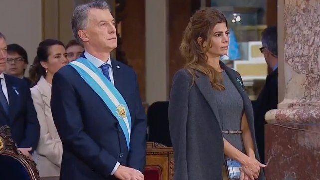 Macri participó de la ceremonia del Tedeum por el 25 de Mayo