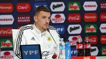 Armani: Es un privilegio compartir prácticas con Messi