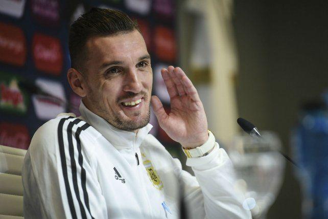 Sonrisa casildense. Armani reconoció que el fútbol argentino es una gran vidriera.
