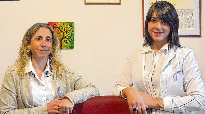 Profesionales. Psicóloga Mariana Prelas y médica especialista en nutrición Natalia Pellicciotti.