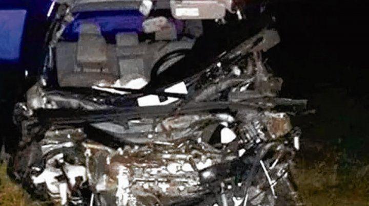 El vehículo que volcó en Malabrigo