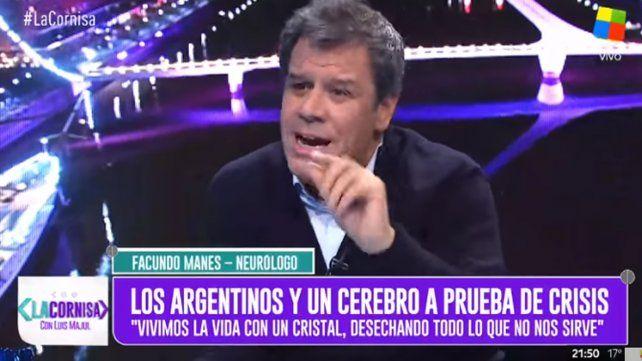 Manes: En todo el mundo hay grieta, no es exclusivo de Argentina
