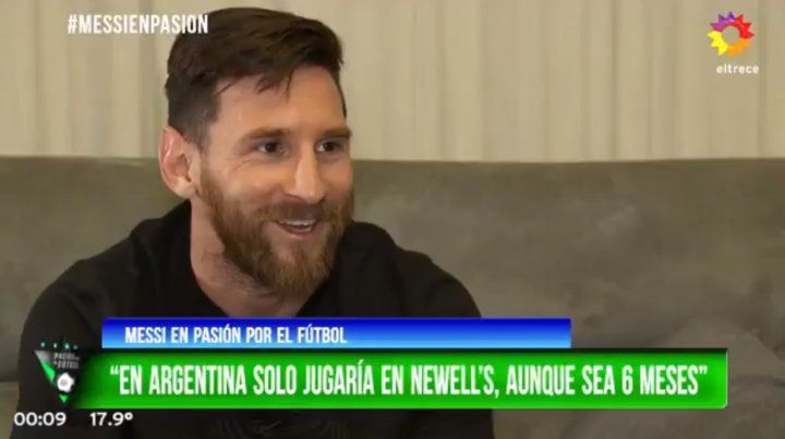 Messi: Me gustaría jugar seis meses en Newells o algunos partidos