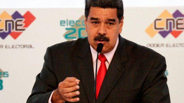 Maduro fue sancionado por la UE.