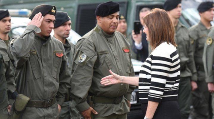 A patrullar. La ministra de Seguridad de la Nación