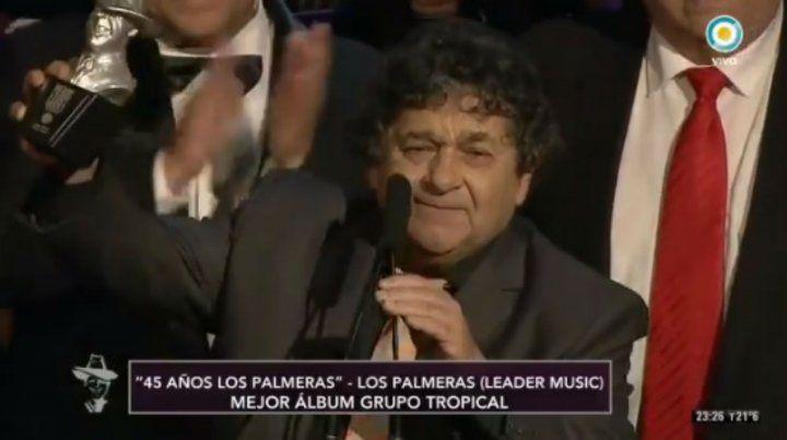 Los Palmeras fueron premiados por mejor álbum tropical