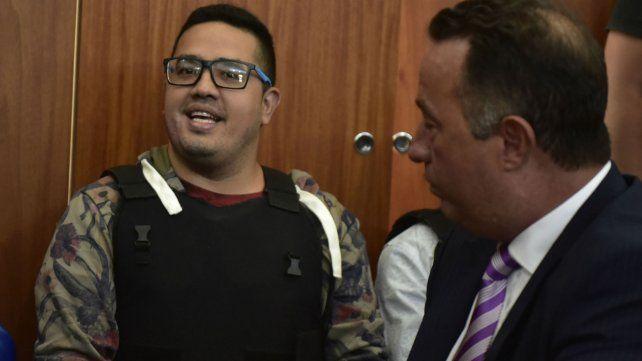 Guille Cantero junto a uno de sus abogados durante una de las audiencias del juicio.