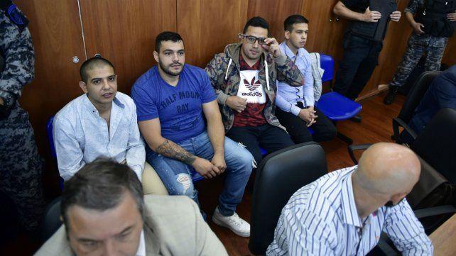 Los principales acusados en el juicio a la banda de Los Monos.