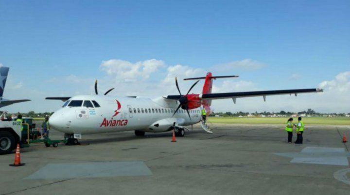 Los vuelos de Avianca llegaron a Rosario en octubre del año pasado.