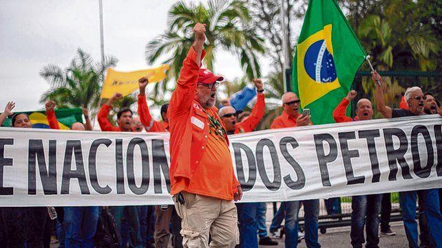 Boicot. El paro petrolero de 72 horas busca forzar la renuncia del presidente del gigante estatal Petrobras.