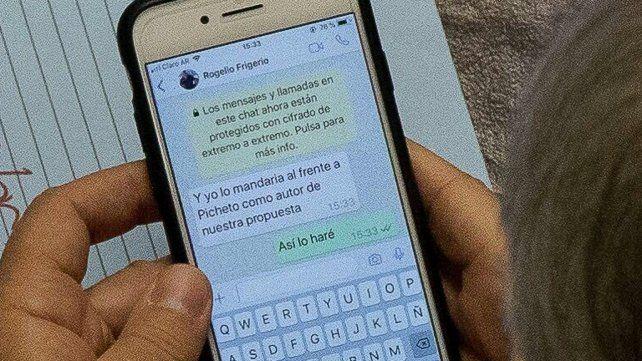 El chat entre Pinedo y Frigerio que se filtró y enojó a los protagonistas