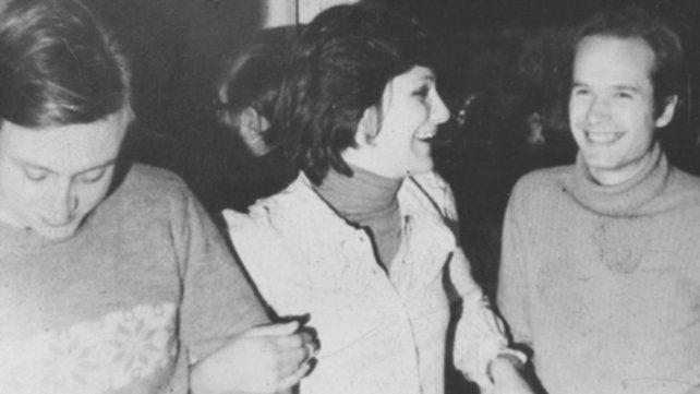 Acompañado. Guillermo White (a la izquierda) en los setenta