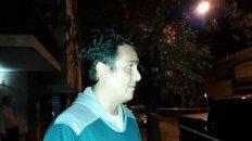 Asustado. Marcelo Marcheri minutos después del ataque a su casa.