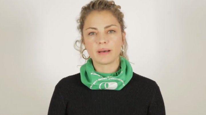 Dolores Fonzi lanzó una propuesta para las mujeres en los Martín Fierro