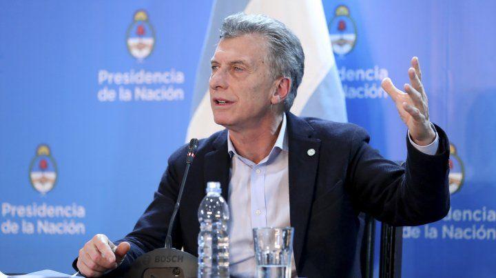 Macri disparó contra la conducción de la CGT por el paro general que dispuso para hoy.