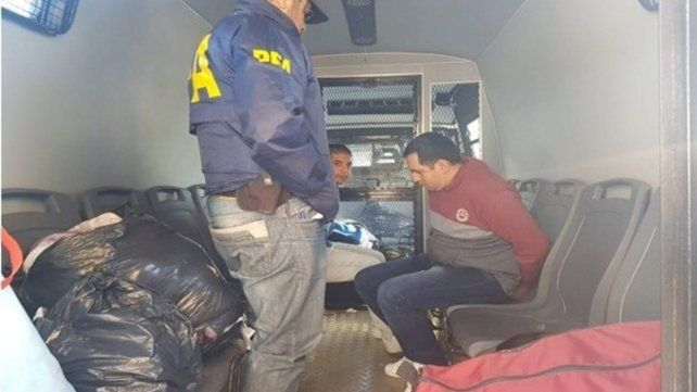 En Rawson. Emanuel Chamorro y Luis Peñalva fueron llevados al sur.