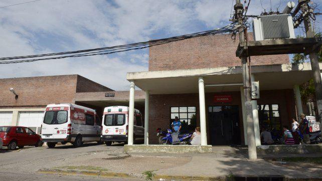 La víctima fue atendida en la guardia del Hospital Gamen.