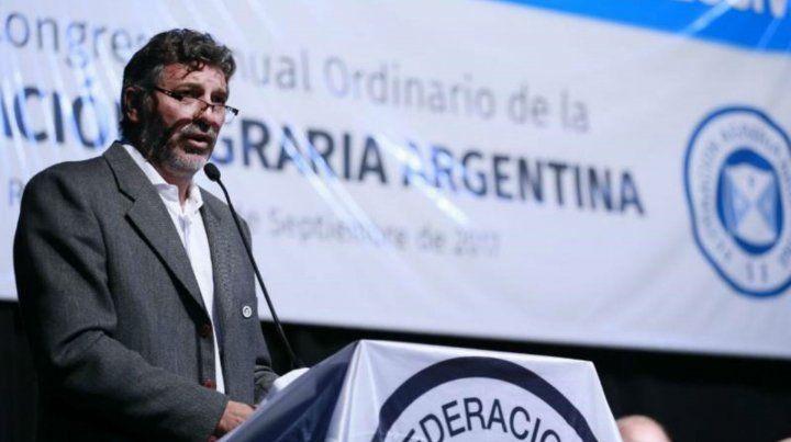 El presidente de Federación Agraria