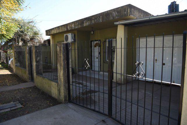 La casa de España 365 donde vivían Atilio y Graciela y donde fueron sorprendidos por los delincuentes.