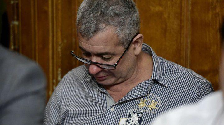 David Delfín Zacarías en los Tribunales Federales en el marco del juicio oral al que está sometido.