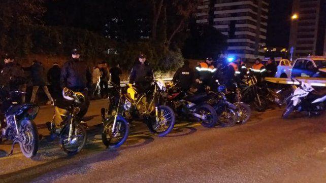Acción. Hubo decomiso de varias motocicletas.