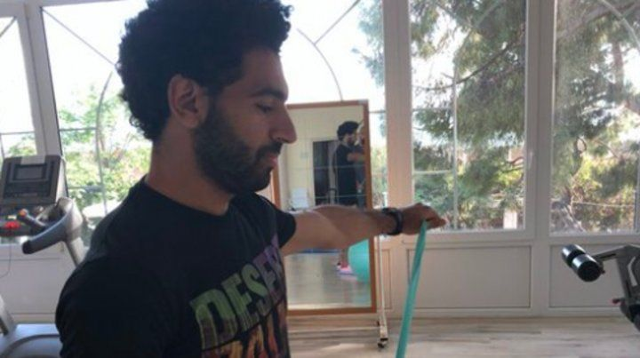 Salah hace rehabilitación y confía en llegar al Mundial