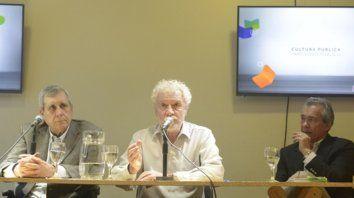 Juntos. Richter y Gabetta durante la presentación del libro en la Feria.