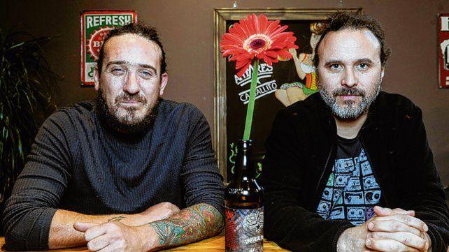 Líderes. Los cantantes Sebastián Teysera y Sebastián Cebreiro.
