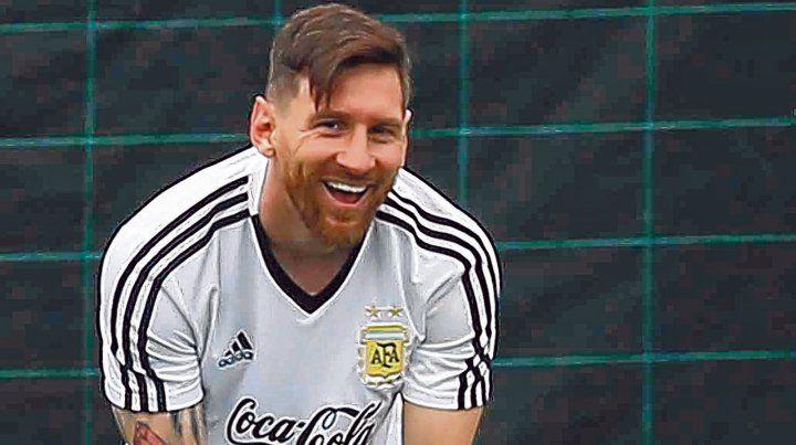 Feliz. La Pulga se ilusiona con que esta vez pueda conseguir lo que le falta: levantar la Copa del Mundo.