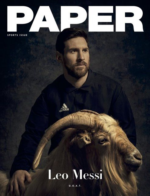 Por qué Messi apareció con una cabra en la tapa de la revista Paper