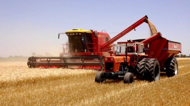 Abajo. La venta de maquinaria agrícola fue lo que más retrocedió.