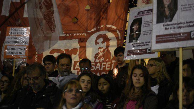 Una de las marchas en reclamo de justicia por la muerte de María de los Angeles.