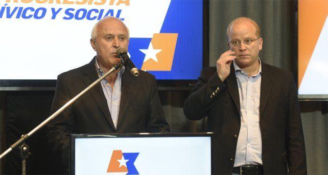 Viejos tiempos. Lifschitz junto a Contigiani en la antesala de las elecciones de 2017.