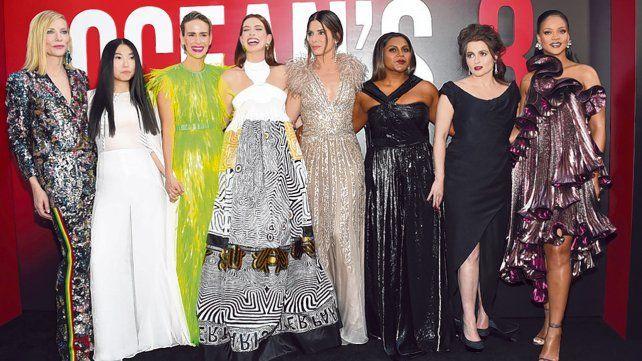 Felices y sonrientes. Las actrices asistieron al estreno de la película en Nueva York este martes.